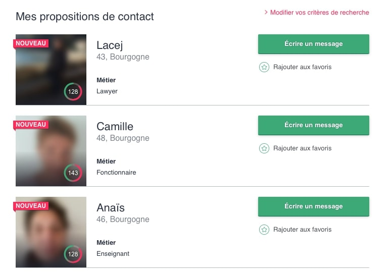 suggestion de contact be2